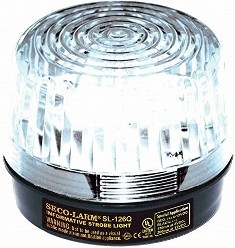 SECO-LARM 126q SL C Clear Security Strobe Light by Alarm Center