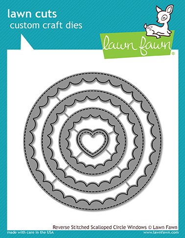 Lawn Fawn Reverse Stitched Scalloped Circle Windows (LF1801)