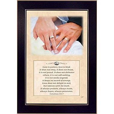 Trendy Decor 4 U JDS195-712 Love is Kind Corinthians 13 Framed Print, 10 x 14-Inch