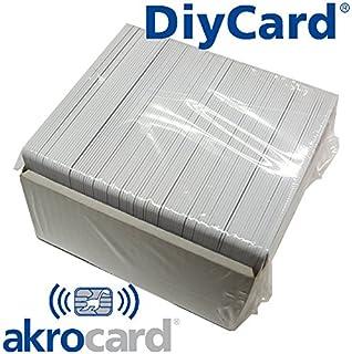 Pack 10 - Tarjeta pvc BLANCA con chip de contacto memoria ...