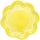 We Love Sundays Lemon Lovely Lace Paper Plates | 10-Pack | Great for Various Themed Parties