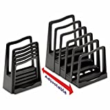 Adjustable File Rack, Five Sections, 8 x 10-3/4 x 11-3/4, Black, Sold as 1 Each