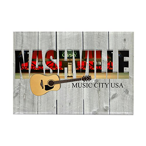 CafePress Nashville Music City-LS Rectangle Magnet, 2