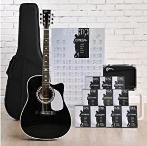 esteban reflections acoustic electric guitar package w amp 10 dvds and accessories. Black Bedroom Furniture Sets. Home Design Ideas