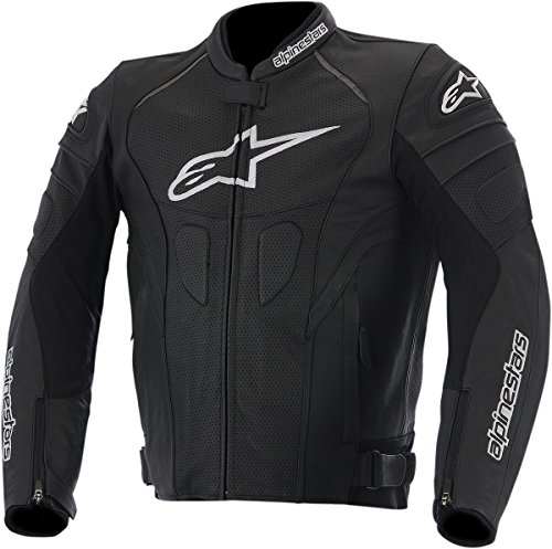 Alpinestars GP Plus R Perforated Leather Men's Riding Jacket (Black/White, Size 54)
