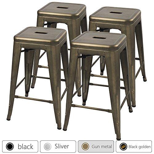 metal bar stools 24 inches - 2