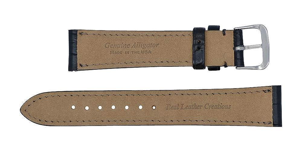 20 mm de largo negro Milenio/mate auténtica Alligator de repuesto correa de reloj banda fabricado en Estados Unidos WS159: Amazon.es: Relojes