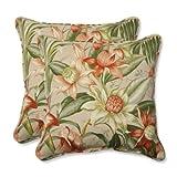 Pillow Perfect Outdoor/Indoor Botanical Glow Tiger