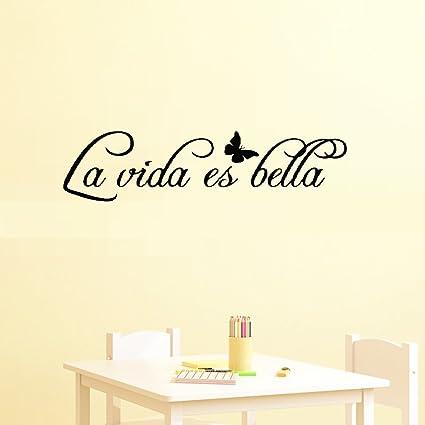 Amazon com: vbcvq Quote Wall Sticker Decorating DIY Spanish