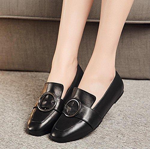 EU39 CN39 chaussures profondes de UK6 chaussures chaussures US8 bouche Spring Mme chaussures chaussures plates simples sport d'ascenseur dames IZ5AxTpawq