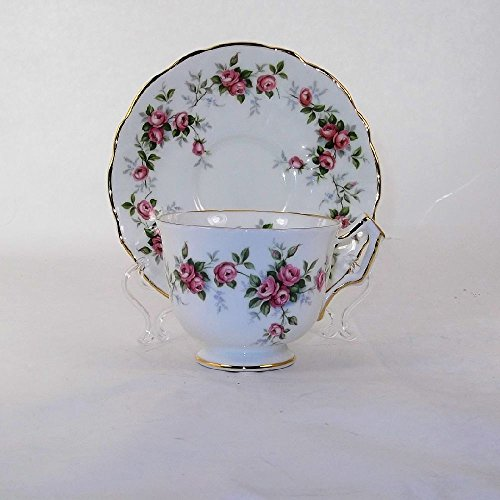 Aynsley China Teacup and Saucer Teacup Set Vintage China Grotto Rose Pattern