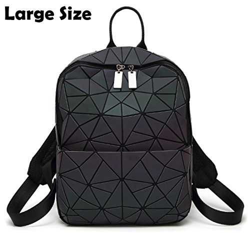 Best Buy! HotOne Geometric Backpack Holographic Reflective Backpacks Fashion Backpack