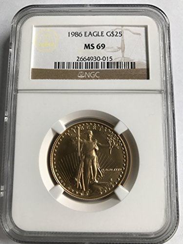 1986 American Gold Eagle $25 MS-69 NGC