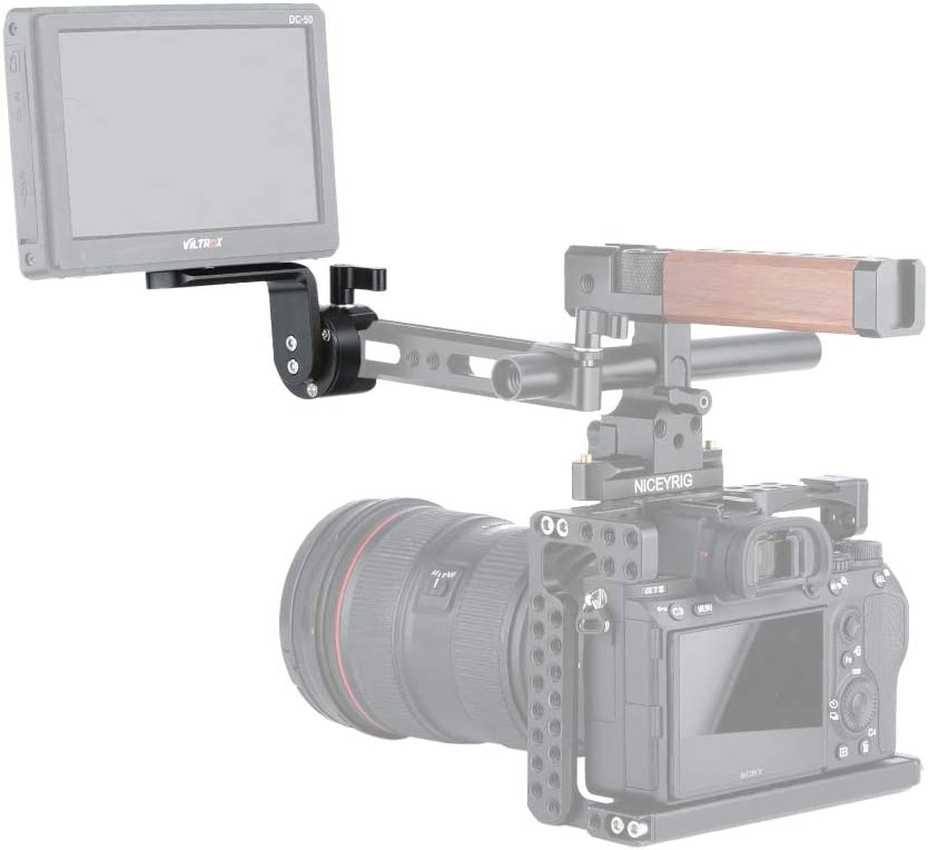 EVF Support Monitor Mount NICEYRIG Quick Release NATO Clamp with NATO Rail 308