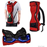Waterproof Backpack to Carry/Store your drifting board (Two Wheels Smart Balance Board Scooter Electric Self Smart Drifting Board) - Mesh Pocket - Adjustable Shoulder Straps - Carry Handle - Red
