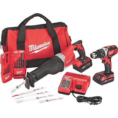 t Tool Kit Includes Drill, Sawzall, 2 Batteries, Charger, Tool Bag, Drill Bits/Blades - 2694-22CX (18 Volt Tool Kit)