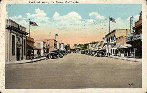 Lookout Avenue La Mesa, California Original Vintage Postcard by CardCow Vintage Postcards