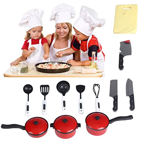 Usstore Kid Baby 12pcs Playhouse Toys Small Chef Kitchenware Simulation Kitchen Utensils toy gift (Hot Dog Truck Toy compare prices)