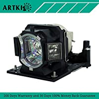 DT01411 Replacement Projector lamp with Housing Fit for HITACHI CP-A352WNM HITACHI CP-AW2503 HITACHI CP-AW3003 HITACHI CP-AW3019WNM HITACHI CP-AW312WN Projectors (By Artki)