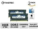 Image of Timetec Hynix IC Apple 16GB Kit (2x8GB) DDR3 PC3-8500 1066MHz memory upgrade for MacBook 13-inch Mid 2010, MacBook Pro 13-inch Mid 2010, iMac 27-inch Late 2009, Mac Mini Mid 2010/Server