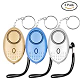 Safe Sound Personal Alarm, KOSIN 3 Pack 145DB Personal Security Alarm Keychain with LED Lights, Emergency Safety Alarm for Women, Men, Children, Elderly