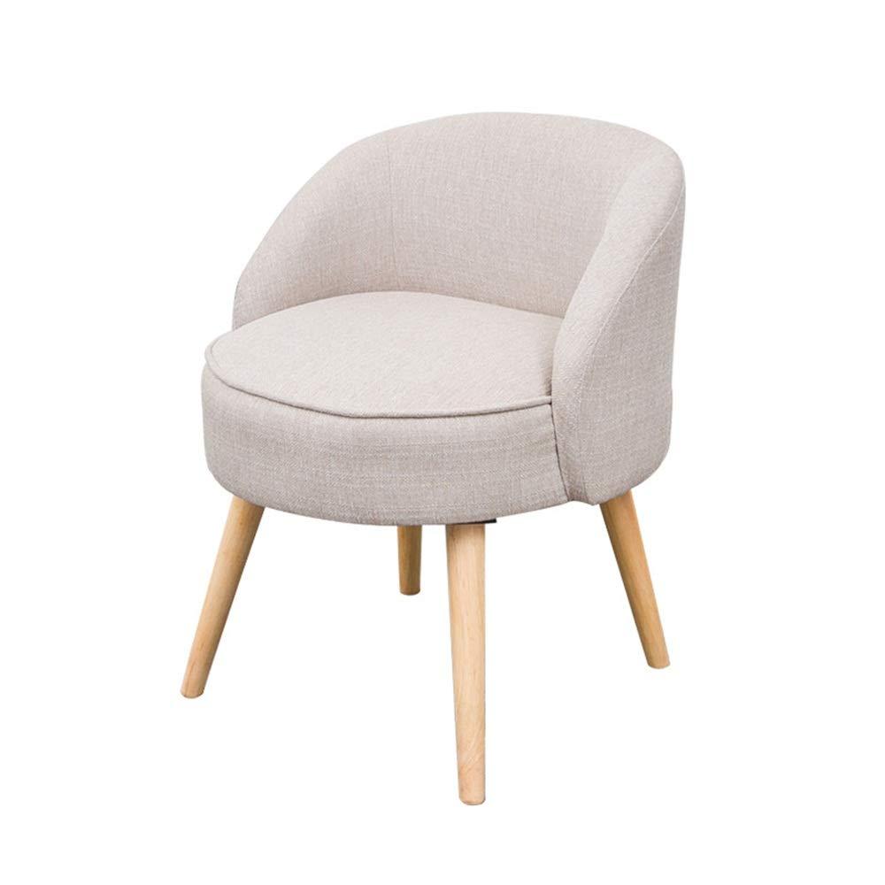 HJKH Sitzplatz Startseite Moderner Akzent-Stuhl mit Massivholzbeinen und Polstersitzkissen for Wohnzimmer Schlafzimmer Dorm Wohnung (Farbe : Hellgrau, Größe : 54x70cm)