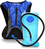 Aduro Sport 1.5L Hydration Backpack Hydro-Pro Includes BPA Free Water Bladder. Unisex, Water Resistant, Durable, Light Weight. Great for Hiking, Running, Biking, Camping, Outdoors (Blue)