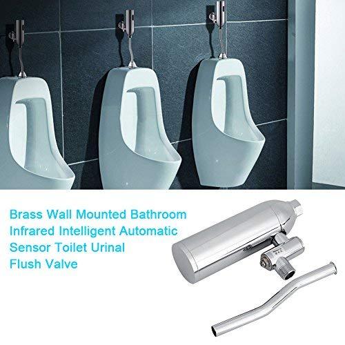 FTVOGUE Brass Wall Mounted Bathroom Infrared Intelligent Automatic Sensor Toilet Urinal Flusher Water-Saving and Deodorization