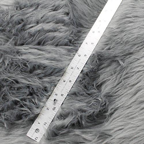 Gray Fur (Faux / Fake Fur Shaggy GRAY Fabric By the Yard)