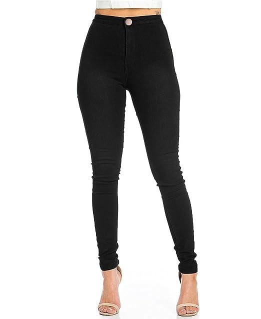 EASTDAMO Vaqueros Mujer Push Up Tejanos Mujer Cintura Alta Pantalones Pitillos Elasticos Jean de Mujer
