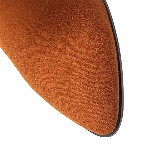 GMMXB130183 GMMXB130183 AgooLar alla Stivali Alto A Donna Scarpe Punta Tacco Caviglia Giallo 8zY8wrq