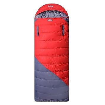 Pato abajo saco de dormir, 0 grados ligero camping Ultralight Down Bag con ligero Saco de compresión y 2 opciones de color,, rojo: Amazon.es: Deportes y ...