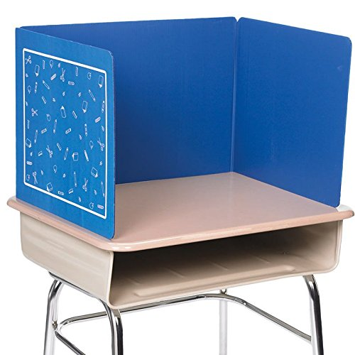 Really Good Stuff Corrugated Plastic Privacy Shield (14'', Blue, 6)