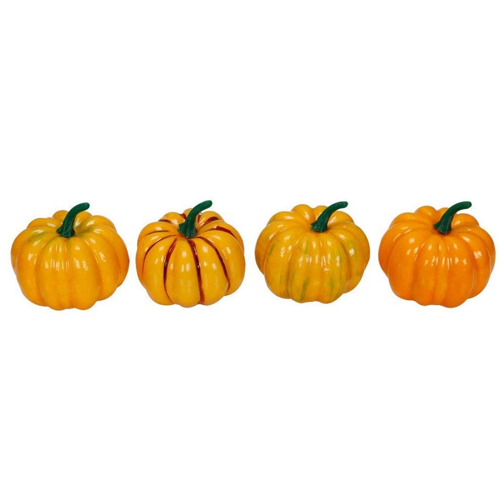 RALMALL Halloween Artificial Pumpkin Decorations,12 Pcs Assorted Fake Pumpkins Fake Vegetables Ornaments for Halloween Autumn Thanksgiving Garden Home and Harvest Decoration by RALMALL (Image #7)