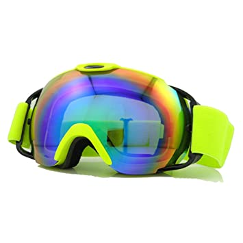 Skibrille UV400doppelte Schichten Anti-Fog kratzfestem tragen über RX Brillen, Snowboard Sonnenbrille für Männer Frauen, Herren damen unisex, rot