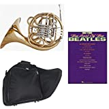Band Directors Choice Double French Horn Key of F/Bb - Best of The Beatles Pack; Includes Intermediate French Horn, Case, Accessories & Best of The Beatles Book