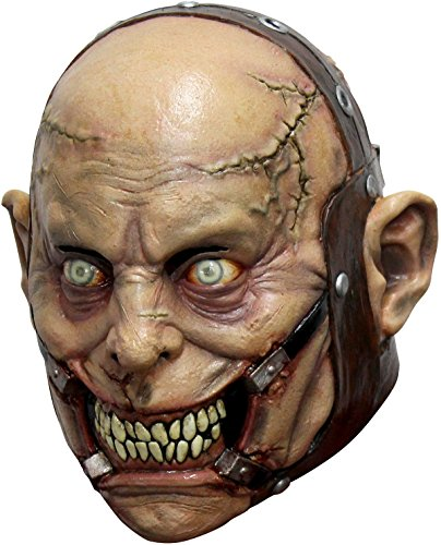 Insane Asylum Mask (Psycho Lunatic Adult Latex Mask Insane Asylum Psych Ward Halloween Accessory New)