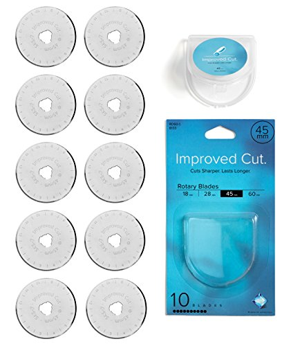 superior Cut 45mm Rotary Cutter Blades 10 Pack Rotary Cutter Blades