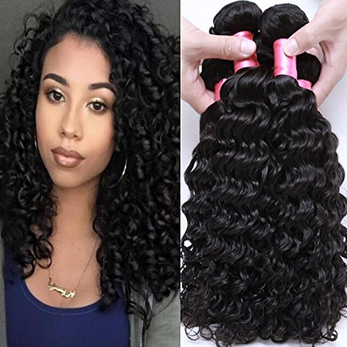 New Deep Wave Weave - Cranberry Hair Brazilian Virgin Hair Deep Wave Weft Remy Human Hair 3 Bundles Weaves 100% Unprocessed Hair Extensions Natural Color 10 10 10Inch (100+/-5g)/bundle Can be Dyed and Bleached 300G