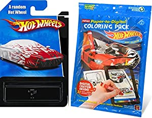 hot wheels coloring book pack 32 paper to digital coloring pages with digital crayon stylus coloring app team hot wheels die cast car party hot wheel - Digital Coloring Book