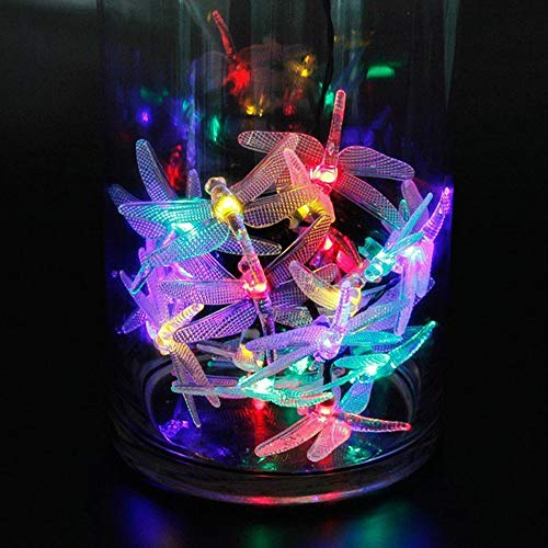 Christmas Decoration Hot Sale!!Kacowpper Battery Powered Dragonfly String Lights 20 LEDs Waterproof Lighting Garden Decor
