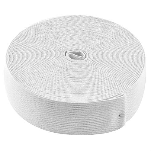 - Coopay 11 Yards White Elastic Spool Sewing Stretch Elastic Band Spool (1.5 Inch x 11 Yard)