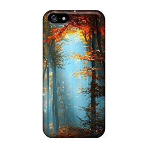 Fashion Tpu Case For Iphone 5/5s- In The Heart Of The Forest Defender Case Cover