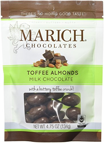 Marich Polished Milk Chocolate Toffee Almonds, 4.75 Ounce (Pack of ()