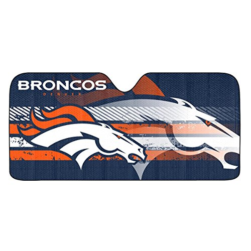 Team ProMark NFL Denver Broncos Universal Auto Shade, (Bronco Windshield)