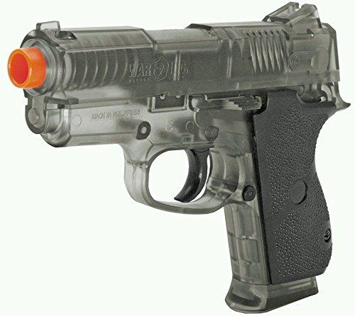 War Inc .45 Spring Powered BAXS Pistol with 1000 Bag 12gram 6mm BBS (Bb Gun Pistol Extended Clip)