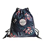 Drawstring Bags for Gym, Sports, School & Travel - Adjustable Straps, Water Repellent Dual-Layer Fabric