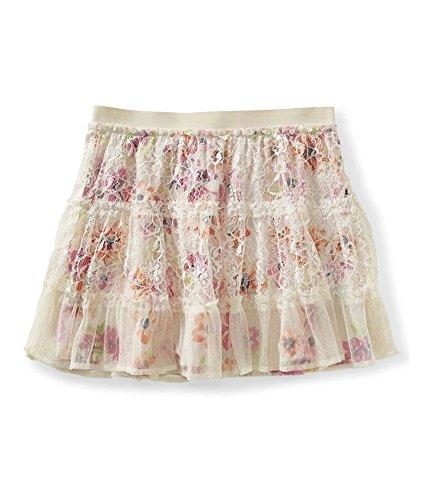 Aeropostale Womens Floral Overlay Skirt