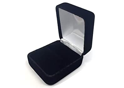 f9ba22e4ce676 Premium Velvet Metal Ring Box Black