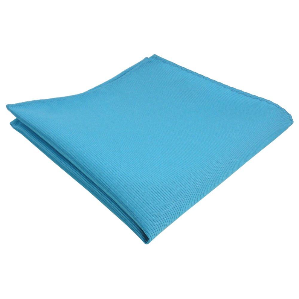 panno 100/% poliestere turchese-blu Uni costola bene monocromatico fazzoletto